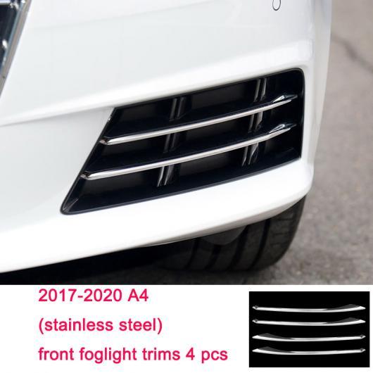 AL ステンレス スチール フロント リア フォグライト ストリップ トリム 適用: アウディ A4 A3 A6 Q3 Q5 Q7 5 AL-FF-4034
