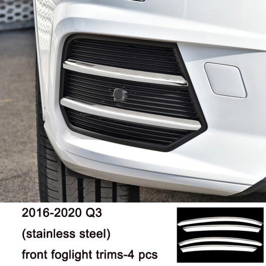 AL ステンレス スチール フロント リア フォグライト ストリップ トリム 適用: アウディ A4 A3 A6 Q3 Q5 Q7 10 AL-FF-4034
