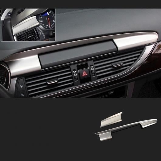 AL ABS セントラル コントロール GPS スクリーン トリム 適用: アウディ A6 2012 2013 2014 2015 2016 2017 2018 マット シルバー 2 ピース AL-FF-4052