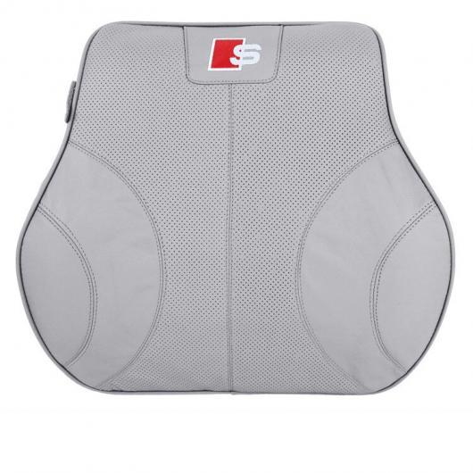 AL レザー ヘッドレスト 腰椎 ピロー 適用: アウディ A4 A6 Q3 Q5 A3 インテリア アクセサリー ランバー 1 ピース AL-FF-4183