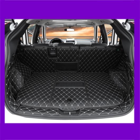 AL レザー トランク マット カーゴ ライナー 適用: 三菱 エクリプス クロス 2018 2019 2020 ラグ ブラック レッド ワイヤー 2~ブラウン 2 AL-FF-4160