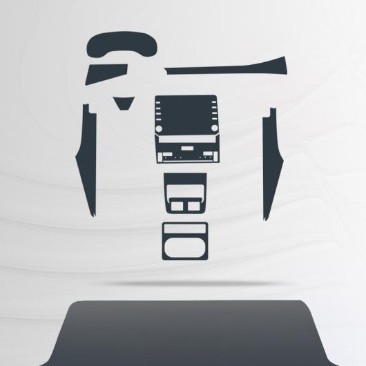 AL トランスペアレント TPU GPS ナビゲーション スクリーン ギア 傷つき防止 フィルム 保護 ステッカー 適用: トヨタ アヴァロン 2019 15 ピース AL-FF-4494