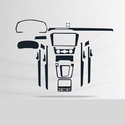 AL TPU インテリア ギア ダッシュボード スクリーン ダッシュボード 保護 フィルム 適用: フォルクスワーゲン パサート B8 ヴァリアント タイプ 1 AL-FF-4708
