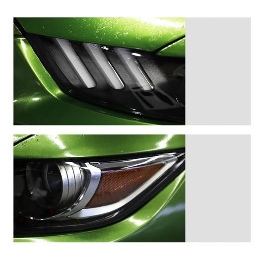 AL TPU トランスペアレント ブラック ヘッドライト フィルム 保護 ステッカー 適用: フォード マスタング 2015 2016 2017 2018 2015-2017・2018-2020 AL-FF-4692
