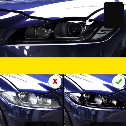 AL TPU トランスペアレント ブラック ヘッドライト 保護 フィルム 適用: ジャガー Fペース E-Pace/Eペース XE Fペース 2016-2020~Fタイプ 2013-2020 AL-FF-4713