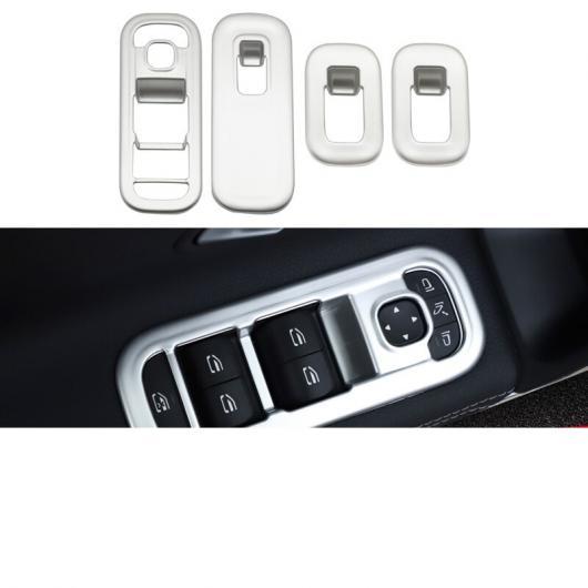 AL 適用: メルセデス ベンツ A クラス A180 A200 ウインドウ コントロール ボタン フレーム インテリア モールディング マット シルバー AL-FF-4930