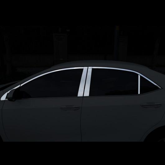 AL 適用: トヨタ カローラ E210 ウインドウ ポスト トリム クローム 装飾 インテリア アクセサリー 2014 2015 2016 2017 2018 16 ピース 1 AL-FF-5066