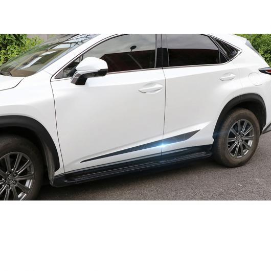 AL 適用: レクサス NX NX200NX300NX200T NX300H ドア エッジ トリム 装飾 インテリア モールディング ABS シルバー・カーボンファイバー ブラック AL-FF-4825