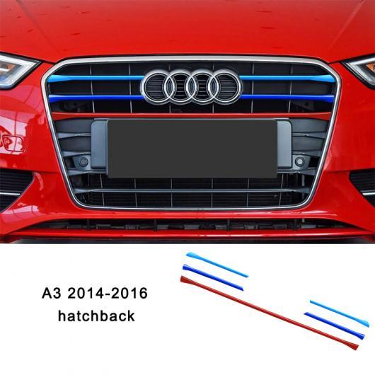 AL 適用: アウディ A3 フロント グリル トリム 装飾 インテリア アクセサリー モールディング 2014 2015 2016 2017 2018 2019 2020 タイプ 4 AL-FF-5118