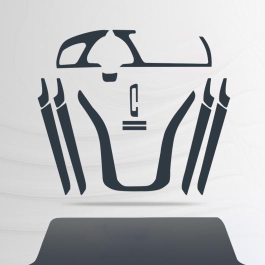 AL TPU インテリア フィルム セントラル ギア パネル コントロール ダッシュボード 保護 ステッカー 適用: アウディ A5 スポーツバック 2011-2016 2 AL-FF-5120