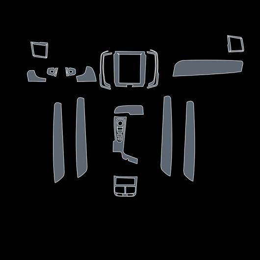 AL TPU インテリア ギア ダッシュボード GPS ナビゲーション スクリーン フィルム セントラル コントロール ステッカー 適用: ボルボ V90 タイプ 1 AL-FF-5216