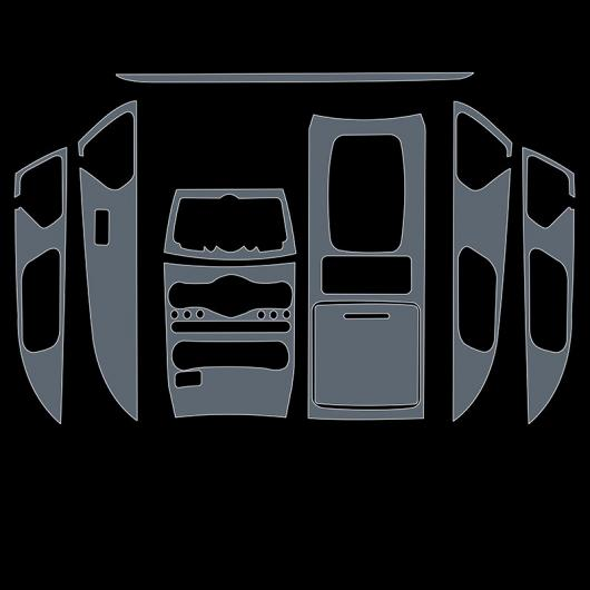 AL TPU トランスペアレント センター コントロール ギア フィルム 保護 ステッカー 適用: インフィニティ QX70 2013-2020 2018 傷つき防止 タイプ 1 AL-FF-5225