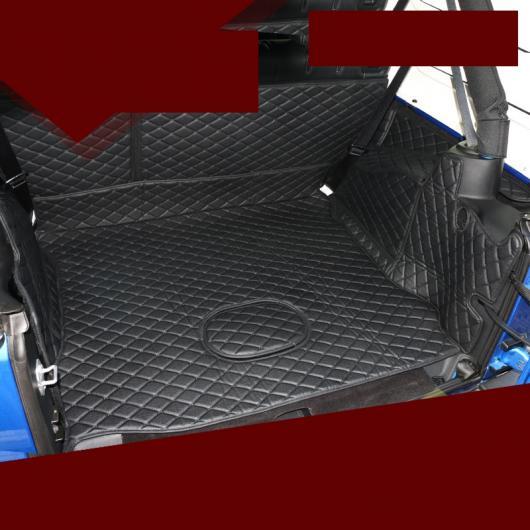 AL レザー トランク マット カーゴ ライナー 2011 2012 2013 2014 2015 2016 2017 JK 適用: ブラウン~ブラック レッド ワイヤー 2ドア・4ドア AL-FF-5175