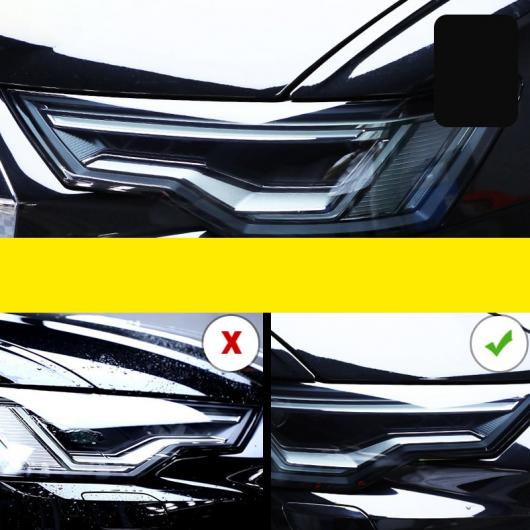 AL TPU トランスペアレント ブラック ヘッドライト フィルム 保護 ステッカー 適用: アウディ A6 S6 C7 C8 2016 2017 A6 2016-2018~S6 2018-2020 AL-FF-5255