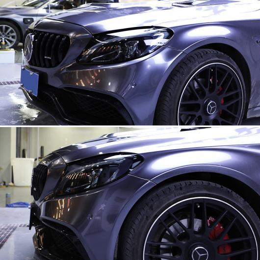 AL TPU トランスペアレント ブラック ヘッドライト 保護 フィルム 適用: メルセデス ベンツ GLC クラス X253 C253 傷つき防止 2016-2020 2019 AL-FF-5269