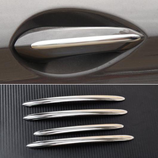 AL 4ピース ステンレス スチール エクステリア ドア ハンドル モールディング トリム カバー エクステリア デコレーション 適用: BMW 5シリーズ F10 F18 AL-FF-6063
