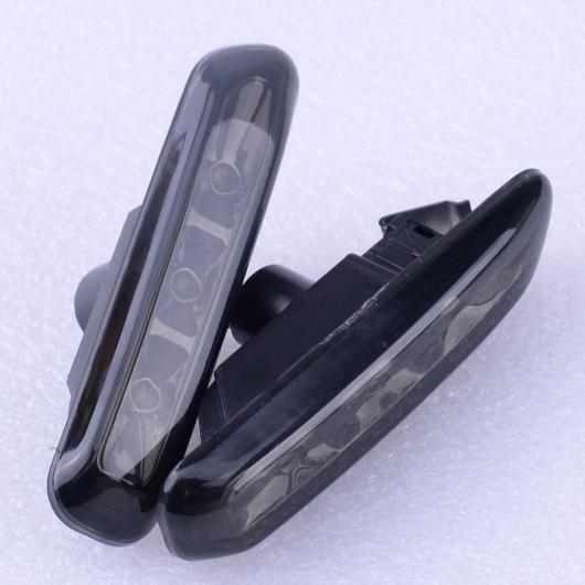 AL 2ピース ブラック レンズ 3 LED サイド マーカー ライト ターン インジケーター 適用: BMW 3シリーズ E46 1999-2003 63138370719 63138370720 AL-FF-6238
