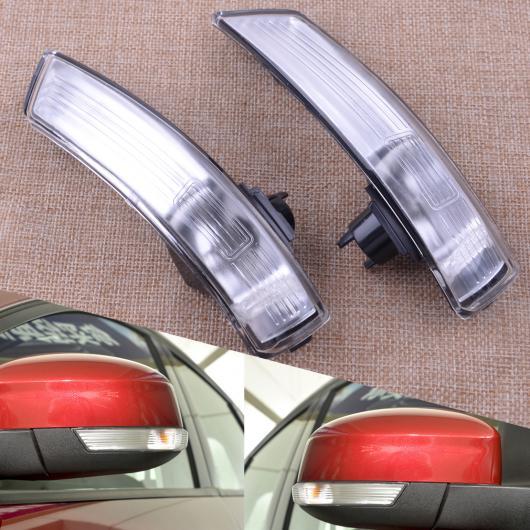 AL 1 ペア 左&右 ウイング ミラー インジケーター レンズ ターンシグナルライト ランプ カバー NO バルブ 適用: フォード フォーカス 2008-2014 2015 2016 AL-FF-6272
