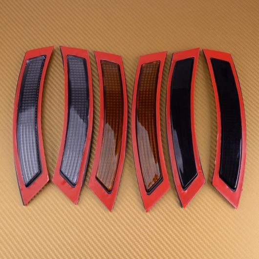 AL 2ピース フロント バンパー リフレクター サイド マーカー 適用: BMW3シリーズ E92 E93 2DR 2007 2008 2009 2010 2011 2012 2013 ブラック~クリア AL-FF-6358