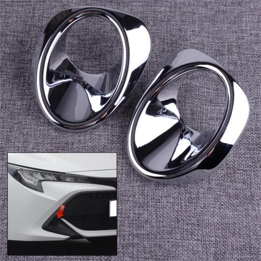 AL 1 ペア ABS クローム フロント バンパー グリル フォグライト ランプ カバー トリム ベゼル 適用: トヨタ カローラ ハッチバック 2019 2020 AL-FF-6672