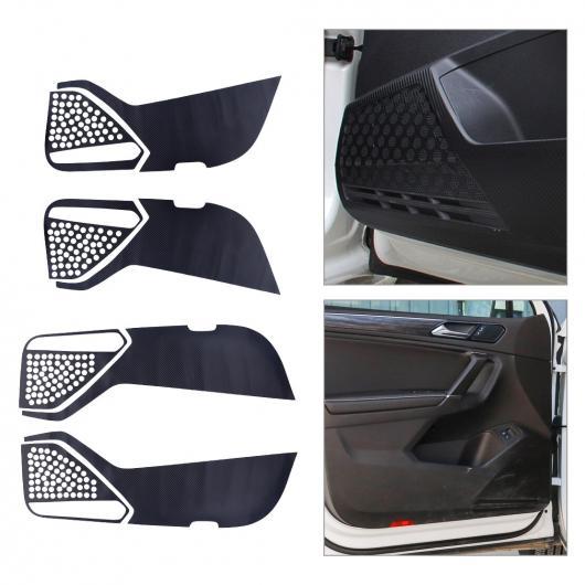 AL 4ピース ビニール フロント&リア ドア 保護 アンチキック パッド マット ステッカー 適用: VW ティグアン 2017 2018 AL-FF-7130