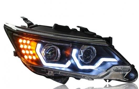 AL ヘッドライト 適用: トヨタ カムリ 2015 LED ヘッドランプ デイタイムランニングライト DRL バイキセノン HID 4300K~8000K 35W・55W AL-HH-0006
