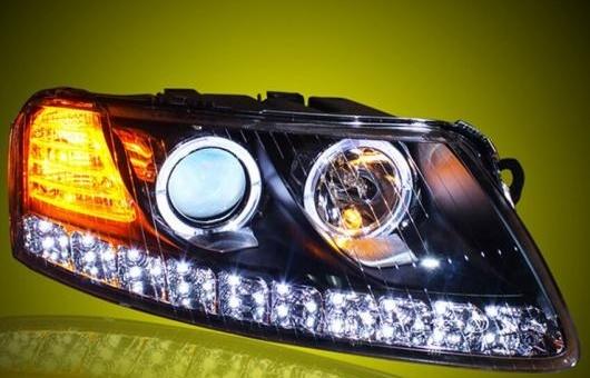 AL ヘッドライト 適用: アウディ/AUDI A6L 2005-2008 LED ヘッドランプ デイタイムランニングライト DRL バイキセノン HID 4300K~8000K 35W・55W AL-HH-0008