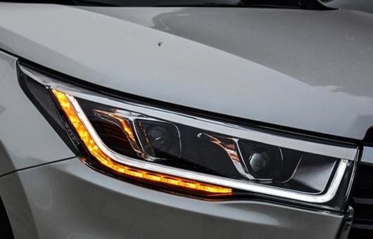 AL ヘッドライト 適用: トヨタ ハイランダー 2015 LED ヘッドランプ デイタイムランニングライト DRL バイキセノン HID AL-HH-0013