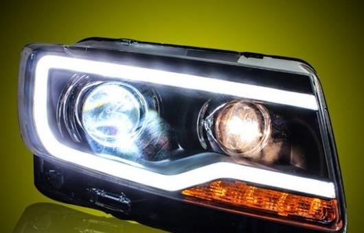 AL ヘッドライト 適用: ジープ/JEEP コンパス 11-15 LED ヘッドランプ デイタイムランニングライト DRL バイキセノン HID 4300K~8000K 35W・55W AL-HH-0025