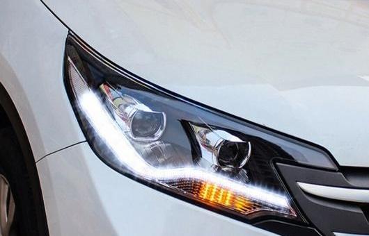 AL ヘッドライト 適用: ホンダ C-RV 2012-2015 LED CRV ヘッドランプ デイタイムランニングライト DRL バイキセノン HID 4300K~8000K 35W・55W AL-HH-0028
