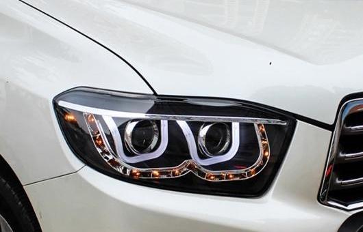 AL ヘッドライト 適用: トヨタ ハイランダー 09-11 LED ハイランダー ヘッドランプ デイタイムランニングライト DRL バイキセノン HID 4300K~8000K 35W・55W AL-HH-0031