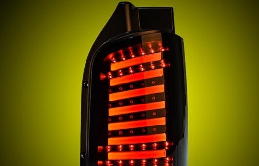 AL テール ランプ 適用: VW フォルクスワーゲン/VOLKSWAGEN マルチバン ライト 2008-16 LED リア DRL + ブレーキ パーク シグナル ストップ レッド AL-HH-0042