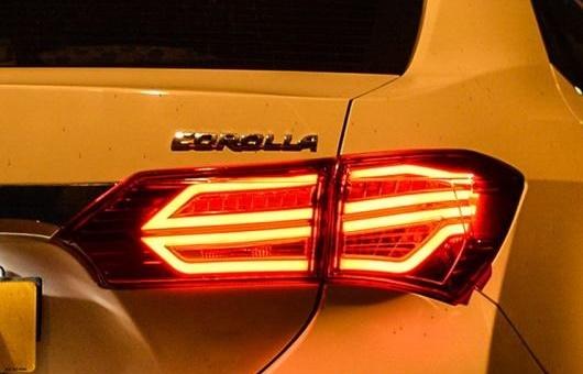 AL テール ランプ 適用: トヨタ カローラ ライト 2014-2016 LED リア DRL + ブレーキ パーク シグナル ストップ レッド AL-HH-0059