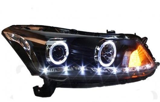 AL 適用: ホンダ アコード ヘッドライト 2008-2013 LED DRL BI キセノン レンズ ハイ ロー ビーム パーキング フォグランプ AL-HH-0061