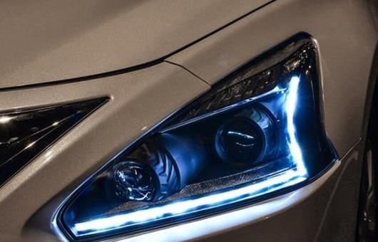 AL ヘッドライト 適用: 日産 ティアナ 2013-15 LED ヘッドランプ デイタイムランニングライト DRL バイキセノン HID 4300K~8000K 35W・55W AL-HH-0064