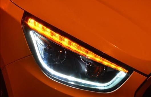 AL ヘッドライト 適用: ヒュンダイ/現代/HYUNDAI IX35 2010-2017 LED ヘッドランプ デイタイムランニングライト DRL バイキセノン HID 4300K~8000K 35W・55W AL-HH-0073