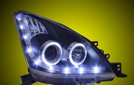 AL ヘッドライト 適用: 日産 リヴィナ 08-12 LED ヘッドランプ デイタイムランニングライト DRL バイキセノン HID 4300K~8000K 35W・55W AL-HH-0076