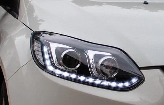 AL ヘッドライト 適用: フォード/FORD フォーカス LED 2012-14 ヘッドランプ デイタイムランニングライト DRL バイキセノン HID 4300K~8000K 35W・55W AL-HH-0081