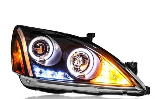 AL ヘッドライト 適用: ホンダ アコード 2003-2007 LED ヘッドランプ デイタイムランニングライト DRL バイキセノン HID 4300K~8000K 35W・55W AL-HH-0083