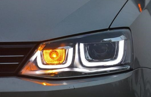 AL ヘッドライト 適用: VW フォルクスワーゲン/VOLKSWAGEN ジェッタ 2012-15 LED ヘッドランプ デイタイムランニングライト DRL バイキセノン HID 4300K~8000K 35W・55W AL-HH-0087