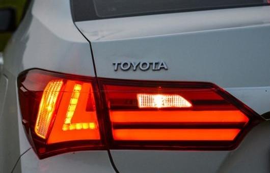 数量限定セール  AL DRL テール ランプ 適用: トヨタ カローラ レッド ライト 2014-2015 LED + リア DRL + ブレーキ パーク シグナル ストップ レッド AL-HH-0097, ノベオカシ:04b4d7ef --- ggcr.jp