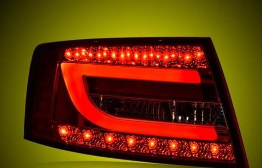AL テール ランプ 適用: アウディ/AUDI A6 ライト 2004-2008 LED リア DRL + ブレーキ パーク シグナル ストップ レッド AL-HH-0109