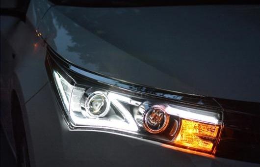 AL ヘッドライト 適用: トヨタ カローラ 2014-2016 LED ヘッドランプ デイタイムランニングライト DRL バイキセノン HID 4300K~8000K 35W・55W AL-HH-0113