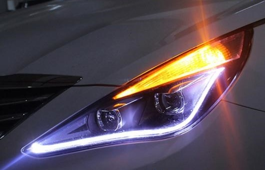 AL ヘッドライト 適用: ヒュンダイ/現代/HYUNDAI ソナタ8 2011-2014 LED ヘッドランプ デイタイムランニングライト DRL バイキセノン HID 4300K~8000K 35W・55W AL-HH-0135