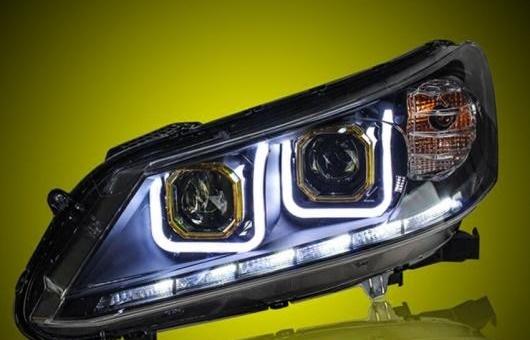 AL ヘッドライト 適用: ホンダ アコード 2013-2015 LED ヘッドランプ デイタイムランニングライト DRL バイキセノン HID 4300K~8000K 35W・55W AL-HH-0141