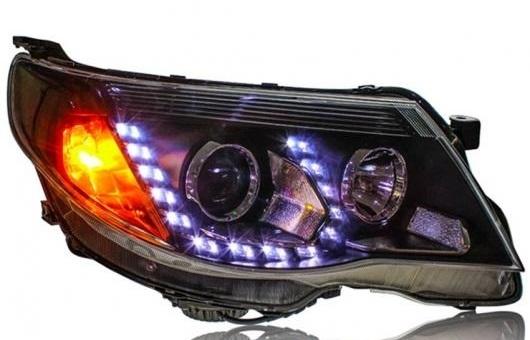 AL ヘッドライト 適用: スバル フォレスター 2008-12 LED ヘッドランプ デイタイムランニングライト DRL バイキセノン HID 4300K~8000K 35W・55W AL-HH-0145