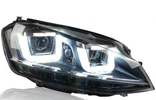 AL ヘッドライト 適用: VW フォルクスワーゲン/VOLKSWAGEN ゴルフ 7 2014-2015 LED ヘッドランプ デイタイムランニングライト DRL バイキセノン HID 4300K~8000K 35W・55W AL-HH-0154