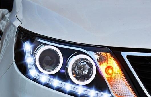 AL ヘッドライト 適用: 起亜 K2 2011-2012 LED ヘッドランプ デイタイムランニングライト DRL バイキセノン HID 4300K~8000K 35W・55W AL-HH-0167