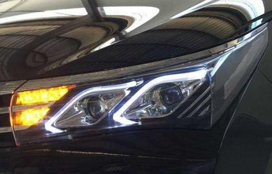 AL 適用: トヨタ カローラ ヘッドライト 2014 レクサス スタイル LED DRL BI キセノン レンズ ハイ ロー ビーム パーキング フォグランプ 4300K~8000K 35W・55W AL-HH-0182