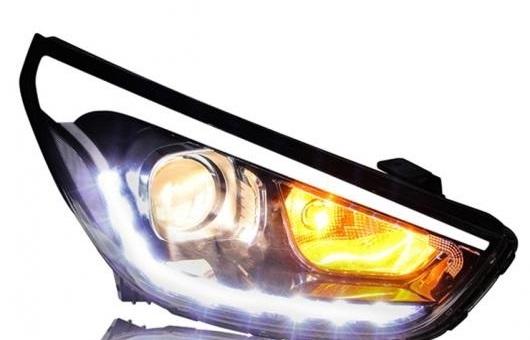 AL ヘッドライト 適用: ヒュンダイ/現代/HYUNDAI IX35 2010-15 LED ヘッドランプ デイタイムランニングライト DRL バイキセノン HID 4300K~8000K 35W・55W AL-HH-0185